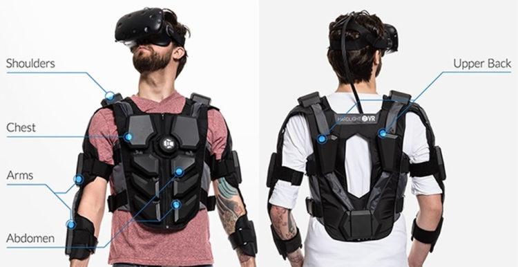 Veste Haptique pour la réalité virtuelle Hardlight VR Suit