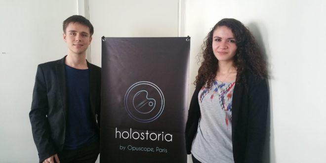 Opuscope HoloStoria HoloLens startup réalité mixte augmentée MR ar LOGICIEL CReATION CONTENU