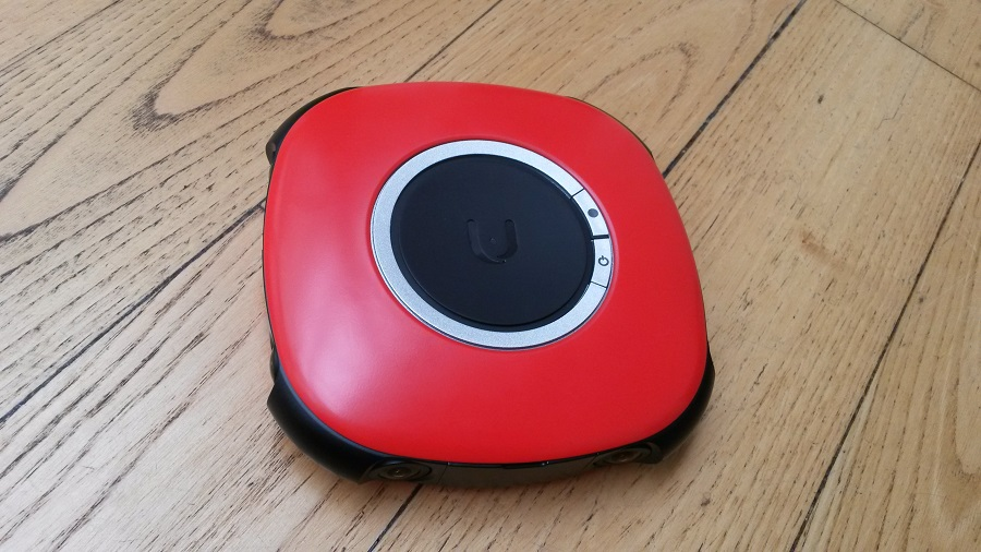 Vuze Camera Design rouge à plat