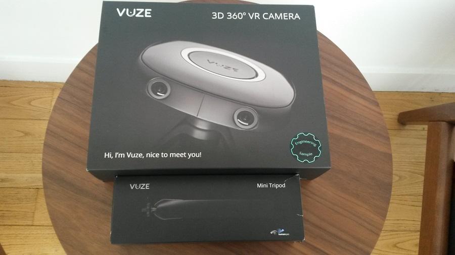 Vuze Camera 360 Unboxing boîtes superposées
