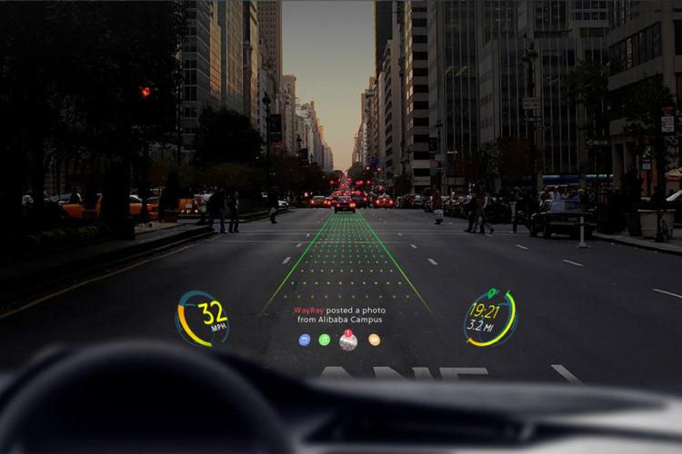 Alibaba investit WayRay réalité augmentée pare-brise voiture