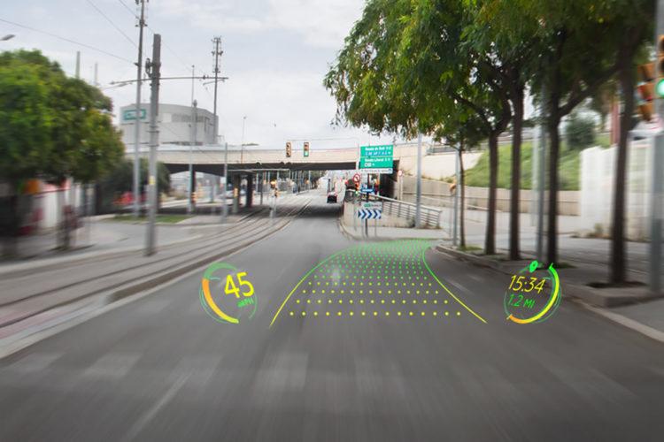 Alibaba WayRay réalité augmentée sur les prare-brise véhicules