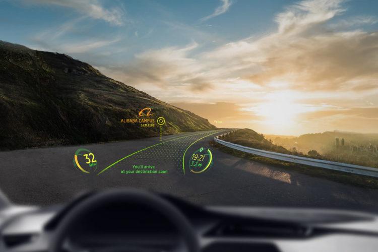 Alibaba WayRay réalité augmentée voiture investissement