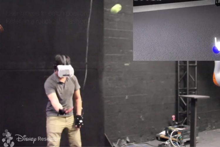 Disney prédiction trajectoire en réalité virtuelle VR