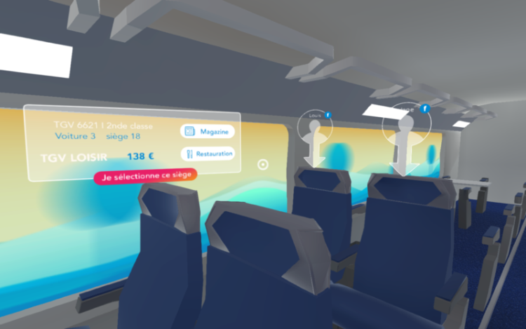 SNCF Laval Virtual AR VR billet ticket voyage train tourisme