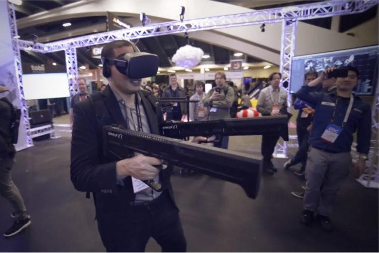 Striker VR Rifle jeux en VR startups vr/ar
