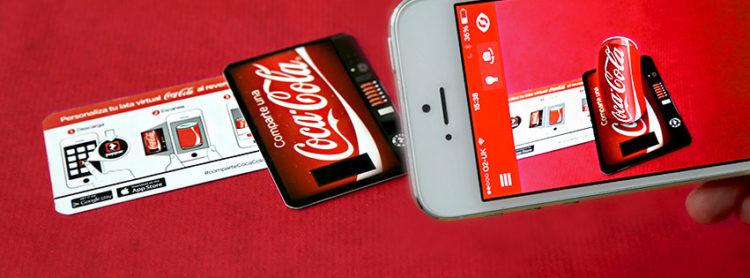 Zappar coca cola smartphone code expérience contenu AR
