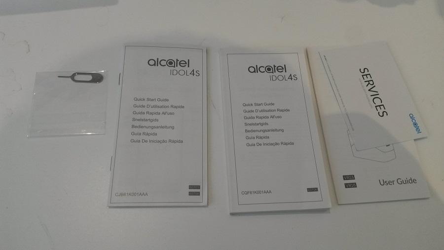 Alcatel IDOL 4S Unboxing manuels