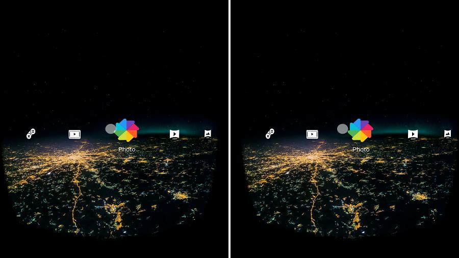 Test Alcatel IDOL 4S Application interface menu VR