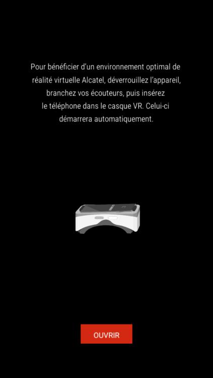 Test Alcatel IDOL 4S application Menu VR