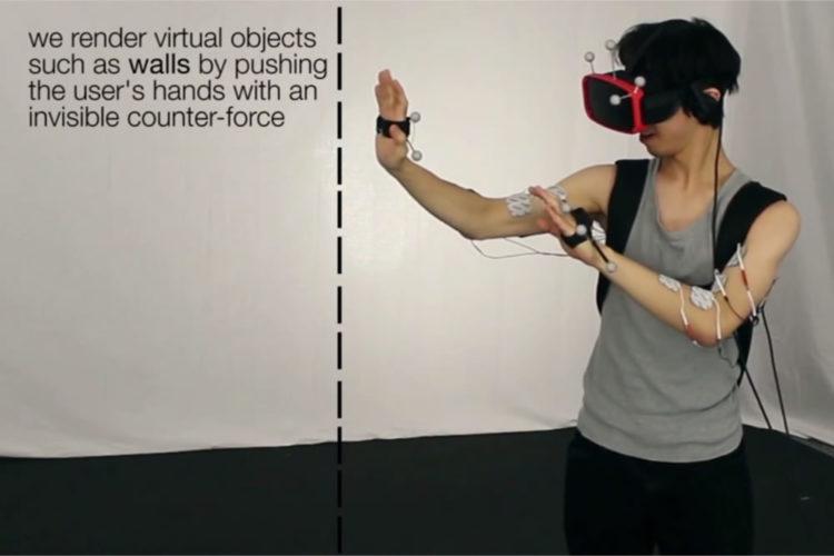 Electrostimulation réalité virtuelle