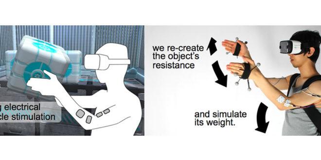 Electrostimulation pour un retour haptique en réalité virtuelle