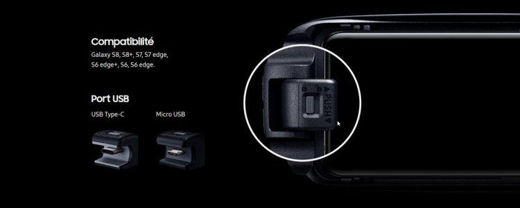 Gear VR USB type C adaptateur compatibilité smartphone galaxy s6 s6 edge s6 edge plus s7 s7