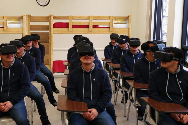 Réalité virtuelle école classe cours