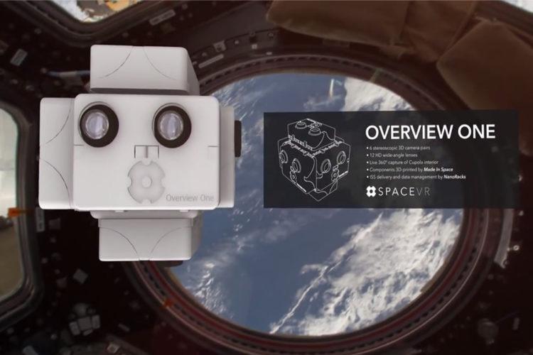 SpaceVR caméra réalité virtuelle dans l'Espace