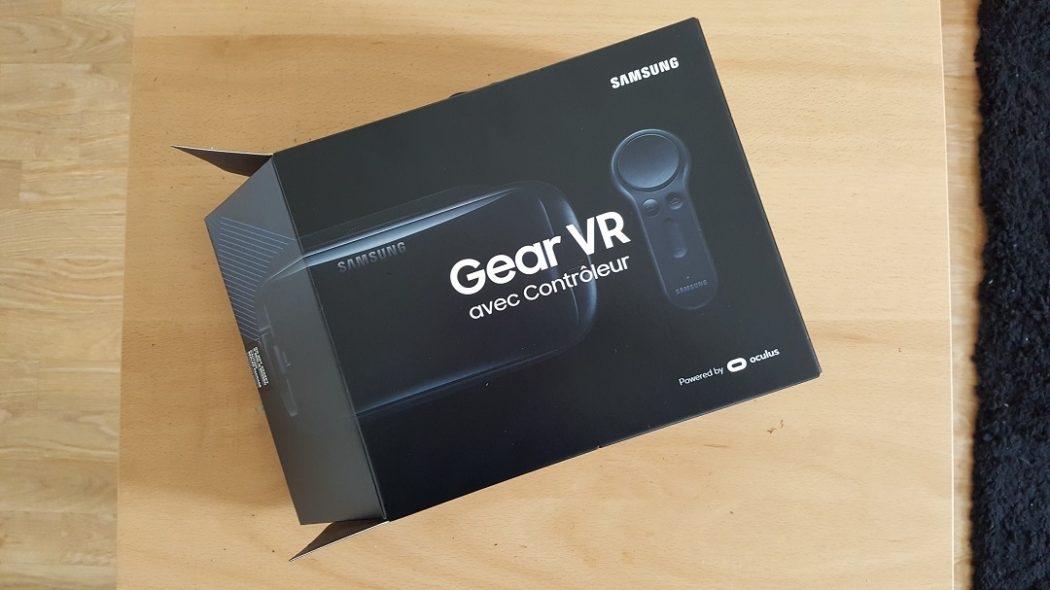 test Gear VR 2017 unboxing Samsung dos back face