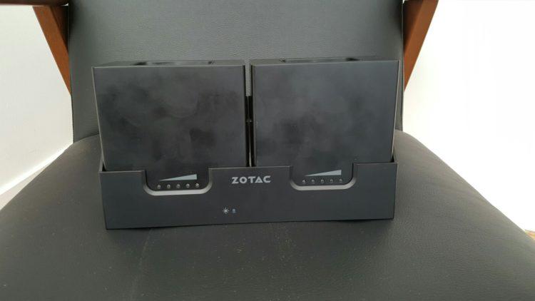 zotac vr go test autonomie batterie socle station recharge