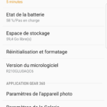 test gear 360 Samsung prise en main taillemicro SD application
