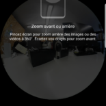 test gear 360 Samsung prise en main taillemicro SD LED ERGONOMIE