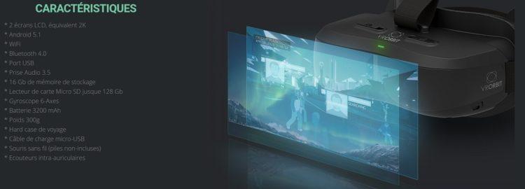 test vr orbit theater casque autonome android caractéristiques