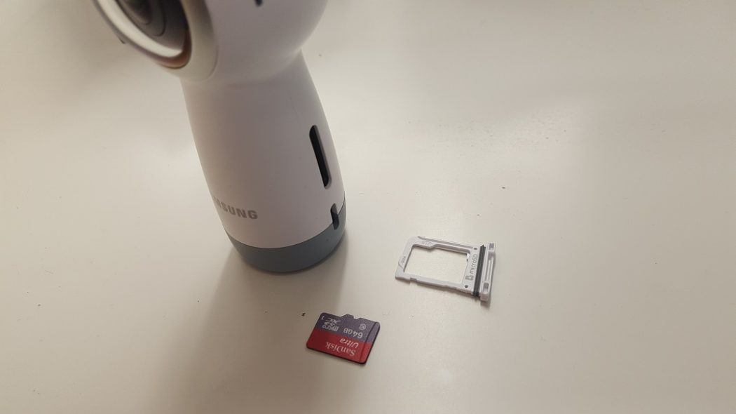 test gear 360 Samsung prise en main taillemicro SD