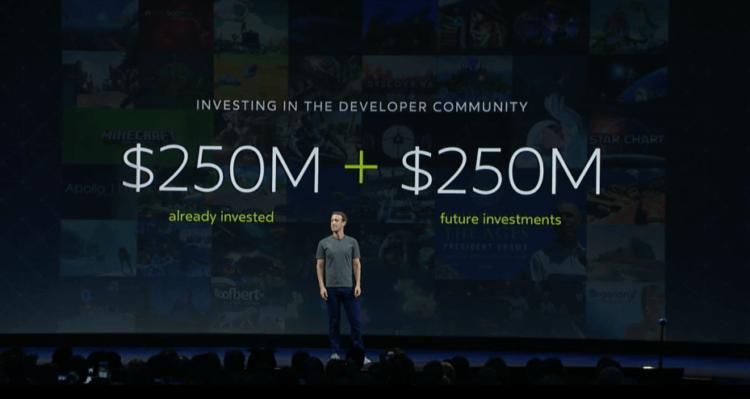 Facebook investissement VR