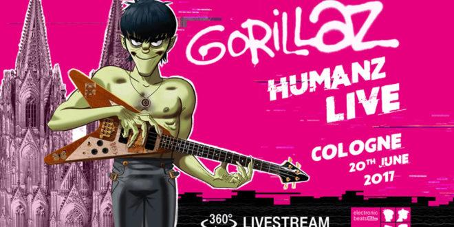 Gorillaz concert 360 degrés live réalité virtuelle VR Cologne 20 juin