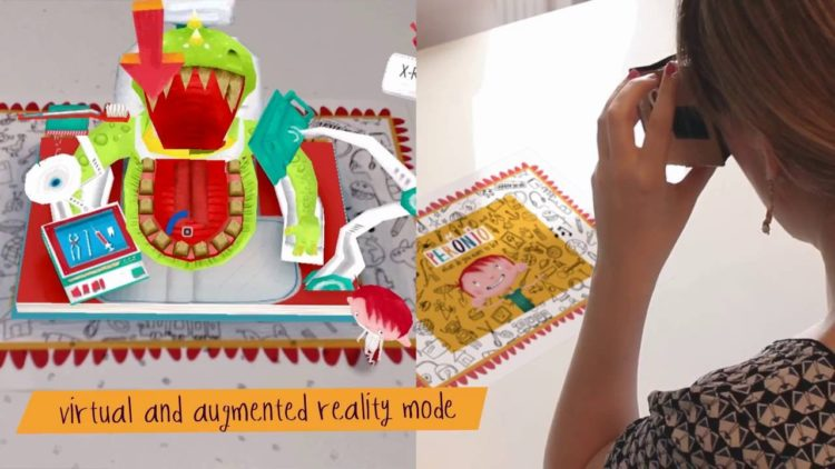 Peronio Pop Up Book ar VR gear VR jeu