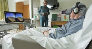 Hôpital expérience VR réalité virtuelle pour patients en fin de vie
