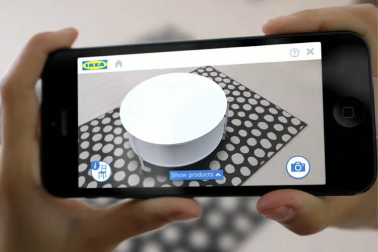 Ikea d veloppe avec apple une application en r alit augment e for Application cuisine ikea