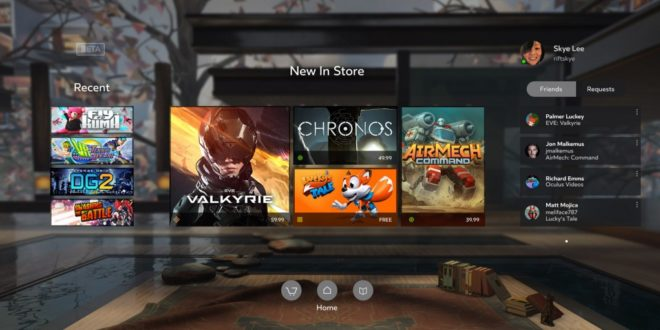 oculus store, oculus home, recettes, chiffre d'affaires, strategie, business plan