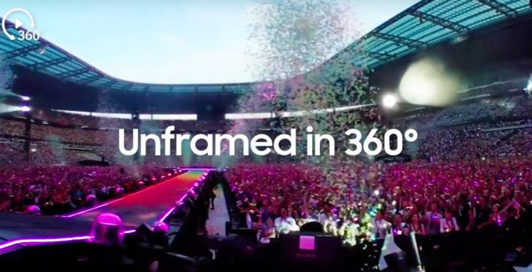 coldplay concert vr, experience 360°, Samsung et Live Nation to Live Stream, A Head Full of Dreams