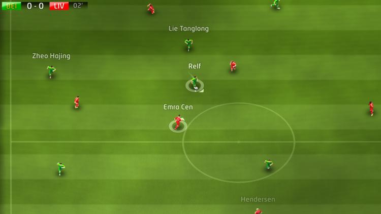 Sociable Soccer VR vue du dessus
