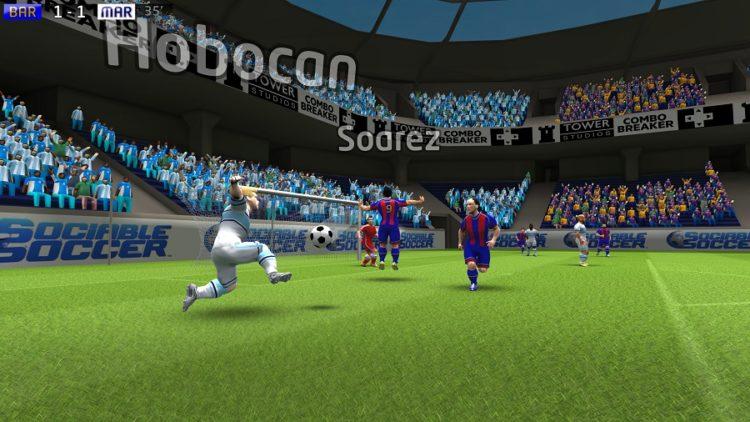 Sociable Soccer VR point de vue VR