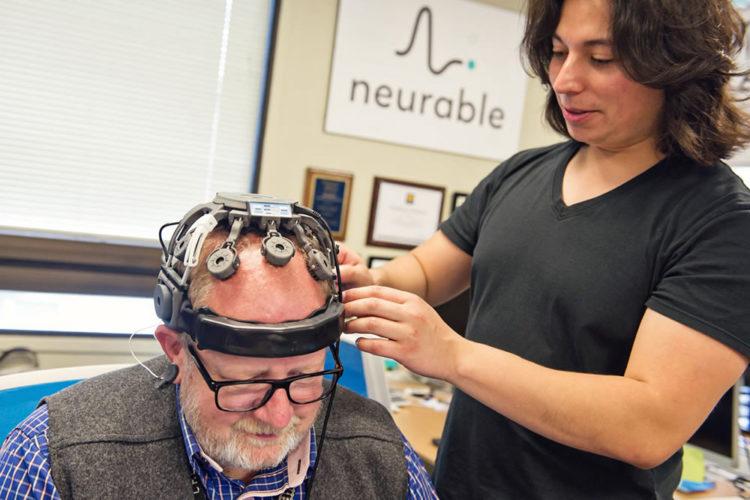 Neurable interface électroencéphalogramme