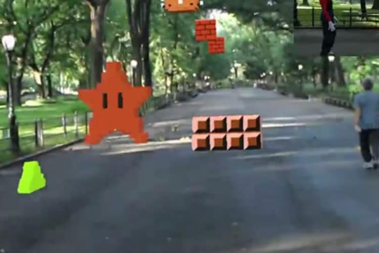 Super Mario Bros jeu Hololens