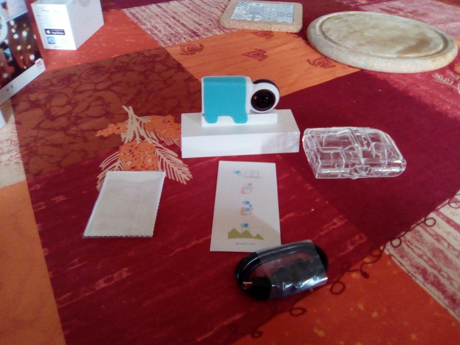 Test Giroptic iO Unboxing boite et accessoires
