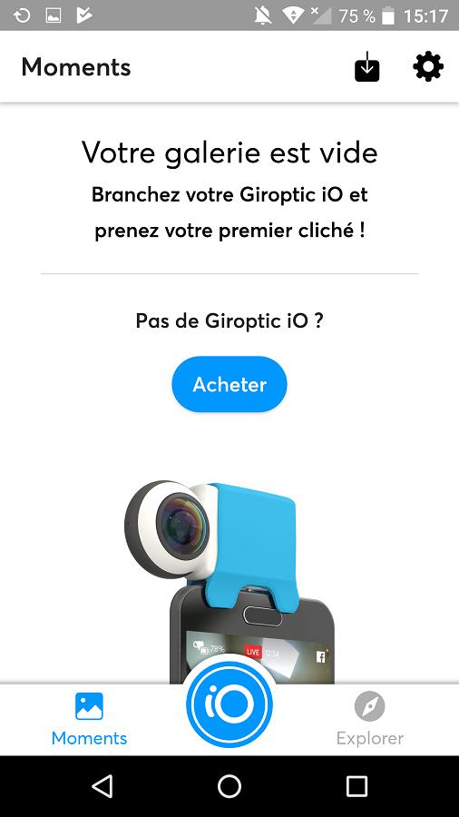 Test Giroptic iO Application