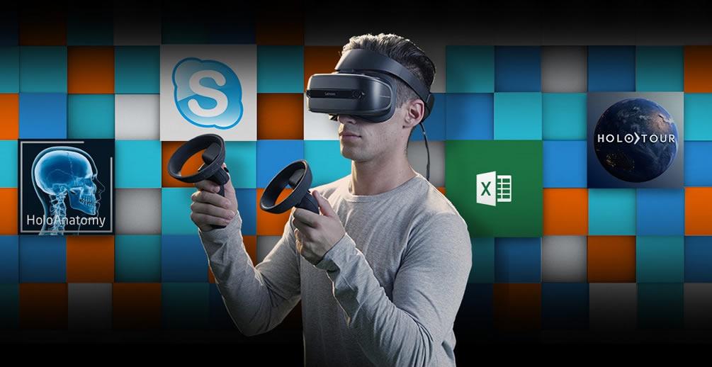 Lenovo Explorer Casque réalité virtuelle Windows 10 Mixed Reality
