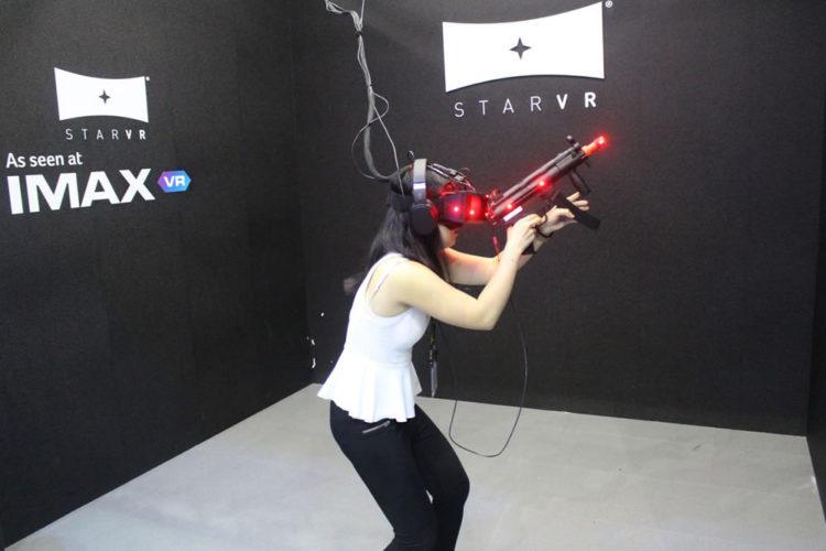 Publicité salle d'arcade en réalité virtuelle