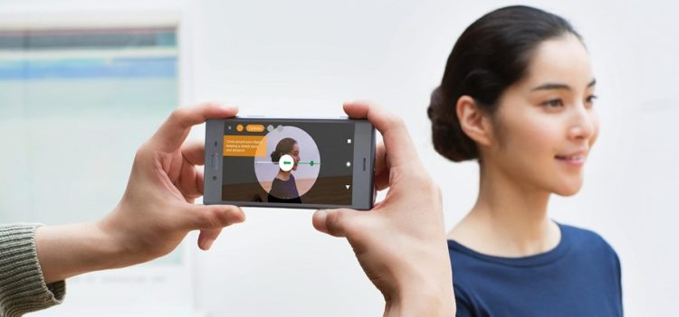 Sony Xperia XZ1 Smartphone numérisation 3D