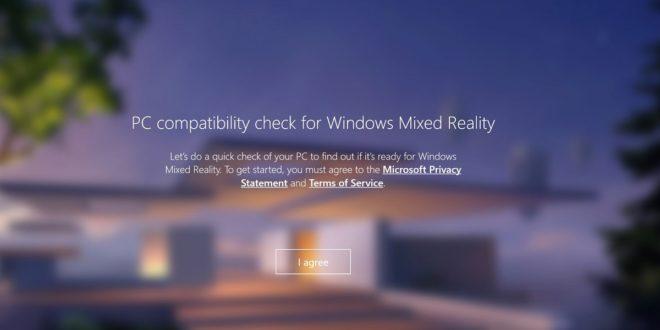windows mixed reality pc check