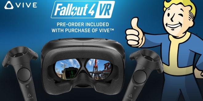 Fallout 4 VR offert pour l'achat d'un HTC Vive