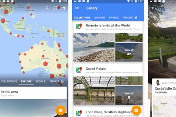 Google Street View Cardboard cartographie
