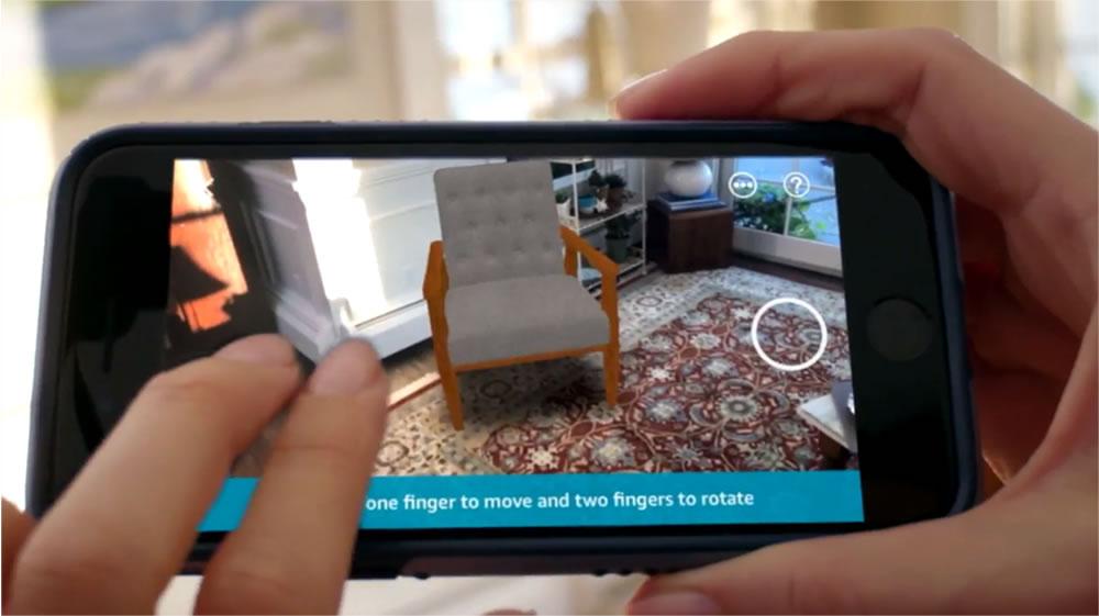 Amazon application en réalité augmentée