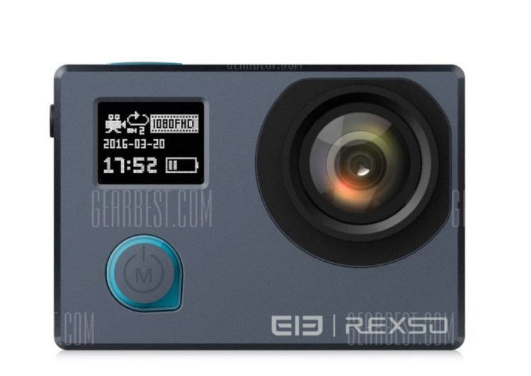 Elephone, rexso, gearbest, camera, sport, panoramique, bon plan, promotion, vidéo, 4k, application,