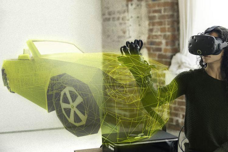 HaptX Glove gant toucher en réalité virtuelle