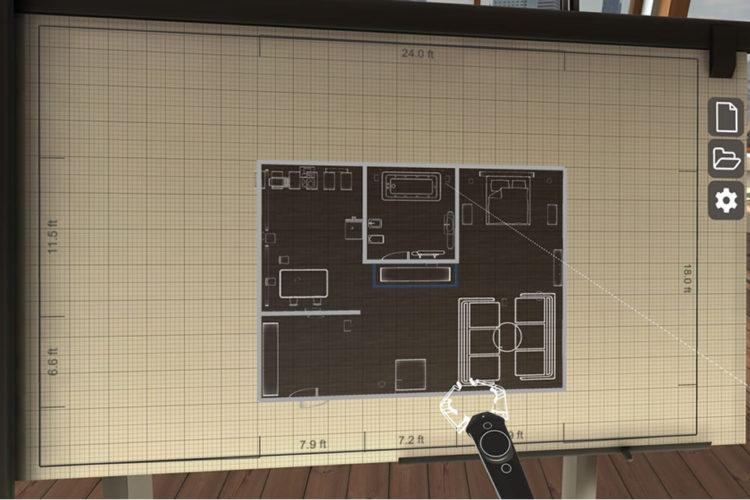 TrueScale design d'intérieur en réalité virtuelle