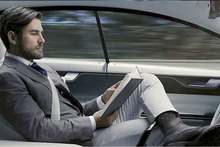 Intel voiture autonome publicité
