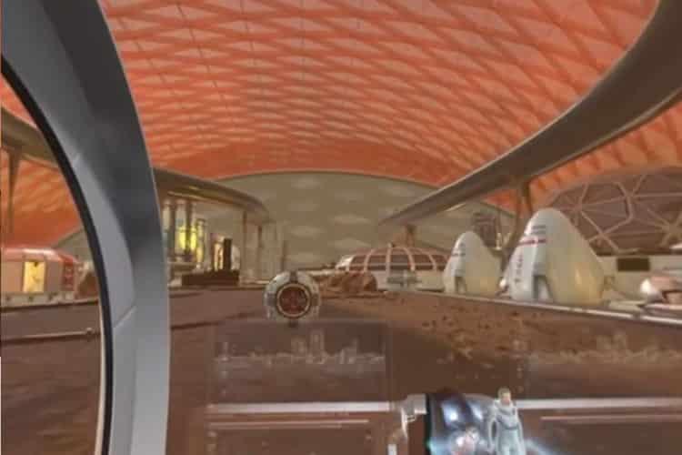 Vidéo ville Mars réalité virtuelle